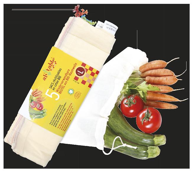 Bolsas Reutilizables De Algodón Ecologico Ah Table